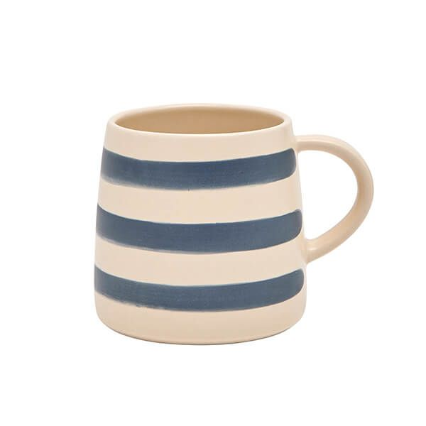 Joules Galley Grade Navy Cream Stripe Mug