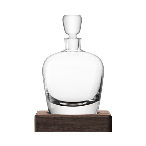 LSA Whisky Arran Decanter 1L Clear With Walnut Base