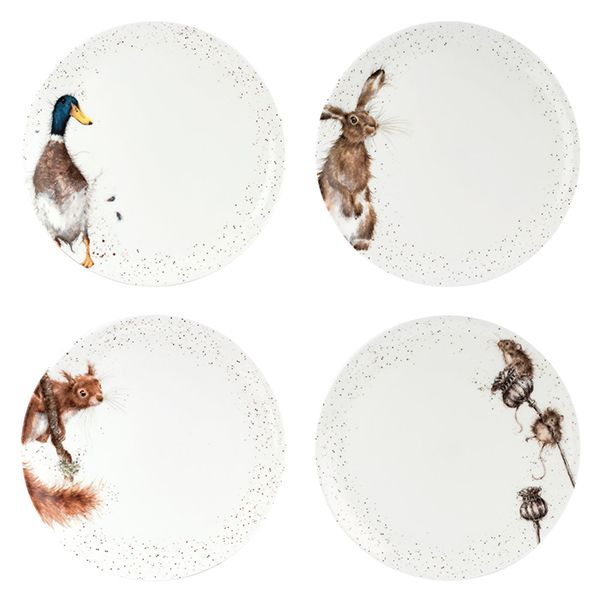 Wrendale Designs Assorted Set of 10.5 Inch Coupe Plates