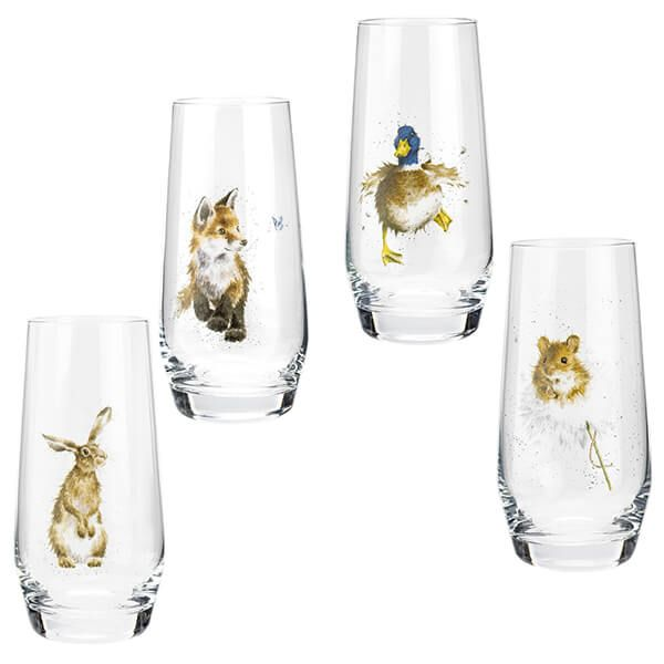 Wrendale Designs Set of 4 Hiball Glasses