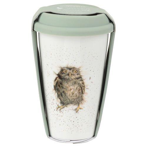 Wrendale Designs Travel Mug Owl 6 for 5