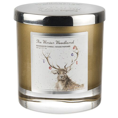 Wrendale Designs The Winter Wonderland Glass Candle With Lid