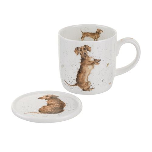 Wrendale Designs Mug & Coaster Hello Sausage 6 for 5