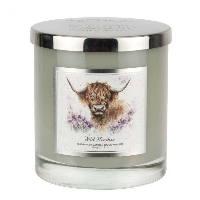 Wrendale Designs The Highland Cow Glass Candle With Lid