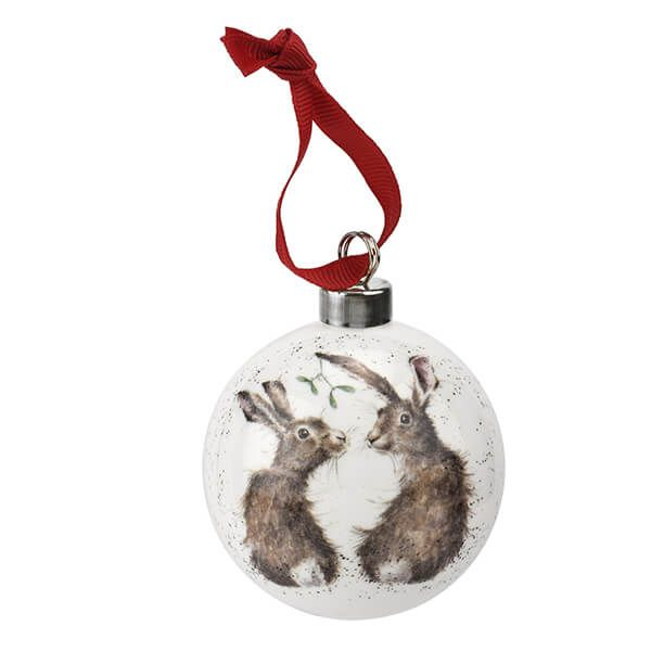 Wrendale Designs Ceramic Christmas Decoration All I Want for Christmas Hare