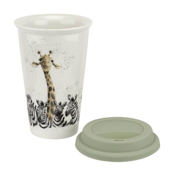 Wrendale Designs Giraffe & Zebra Travel Mug