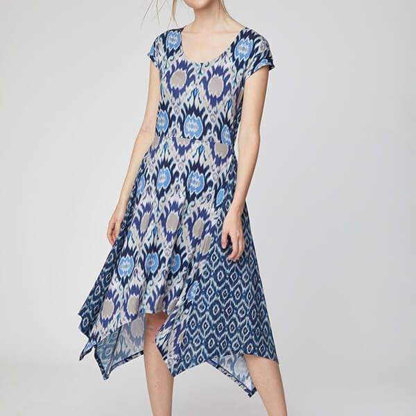 Thought Ocean Blue Polynesia Dress