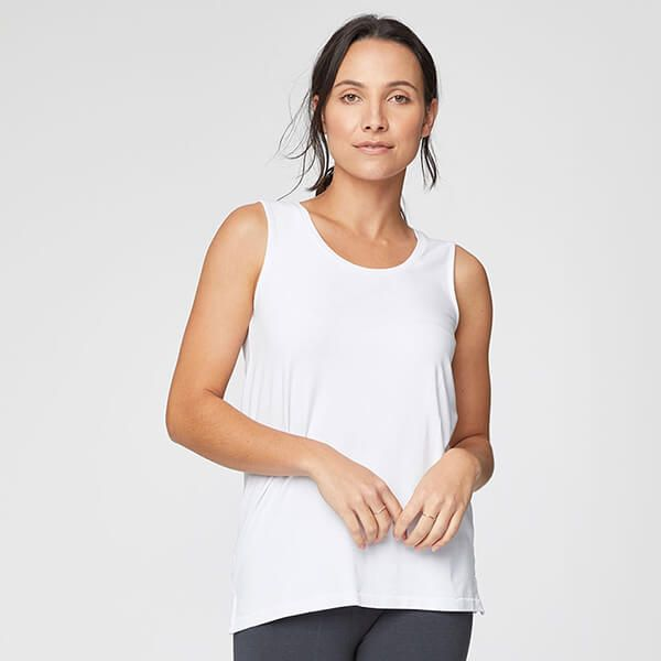 Thought White Bamboo Base Layer Vest Size 14