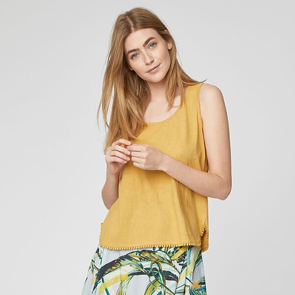 Thought Mimosa Yellow Florianne Vest Top Size 18