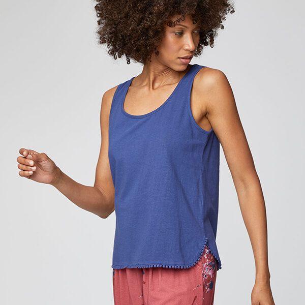 Thought Ocean Blue Florianne Vest Top Size 18