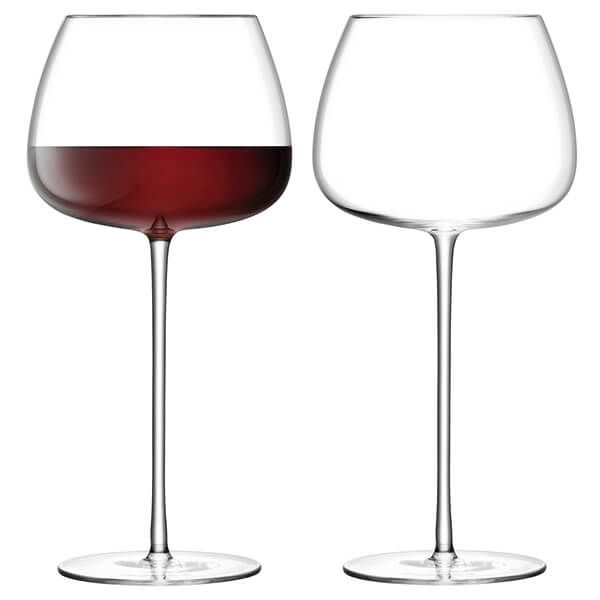 LSA Wine Culture Red Wine Balloon Glass 590ml Clear Set Of Two