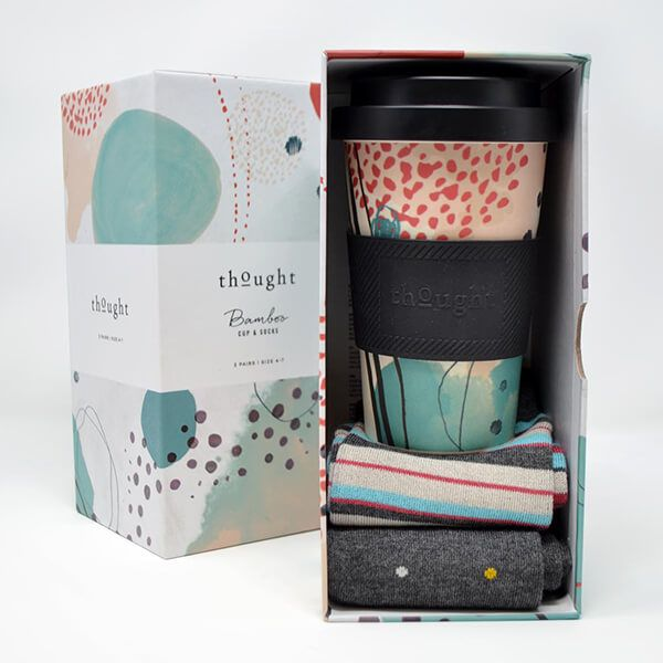 Thought Arrah Bamboo Cup and Sock Gift Set