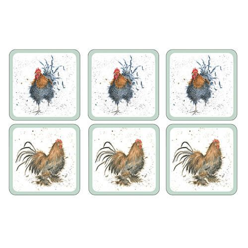 Wrendale Designs Cockerel Coasters Set Of 6