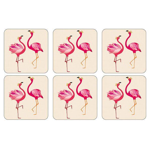 Sara Miller Flamingo Set of 6 Coasters