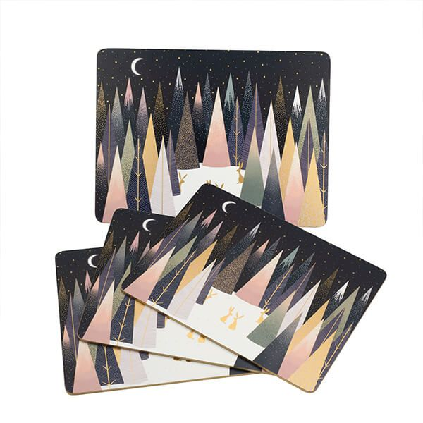 Sara Miller Frosted Pines Collection Set of 4 Placemats