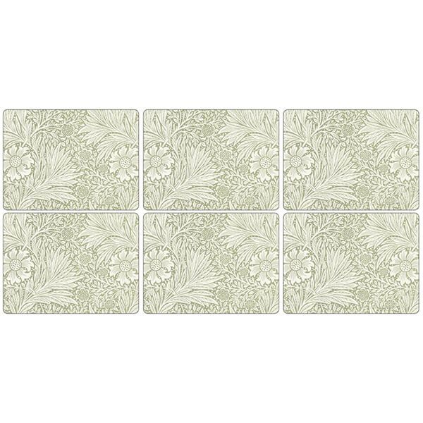 Morris & Co Marigold Green Placemats Set of 6