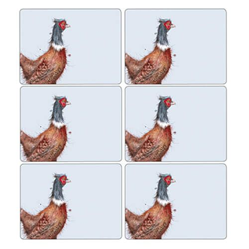 Wrendale Designs Pheasant Placemats Set Of 6