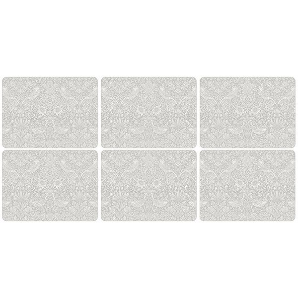 Morris & Co Pure Strawberry Thief Placemats Set of 6