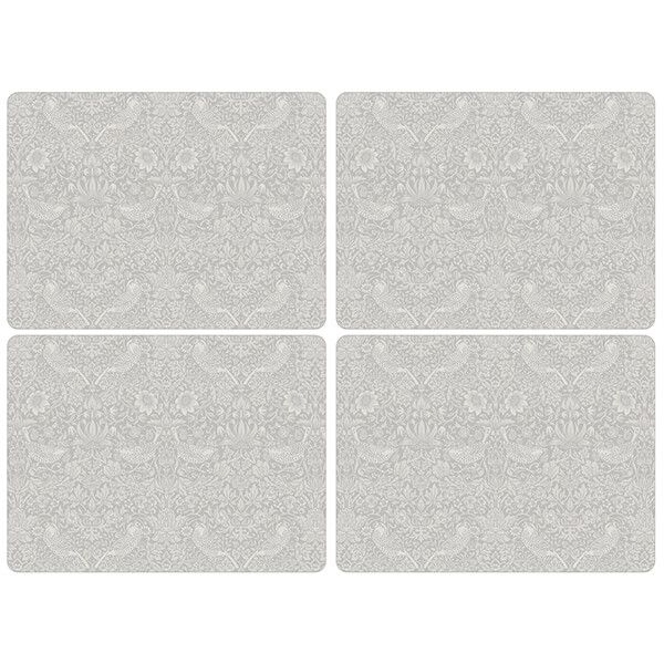 Morris & Co Pure Strawberry Thief Large Placemats Set of 4