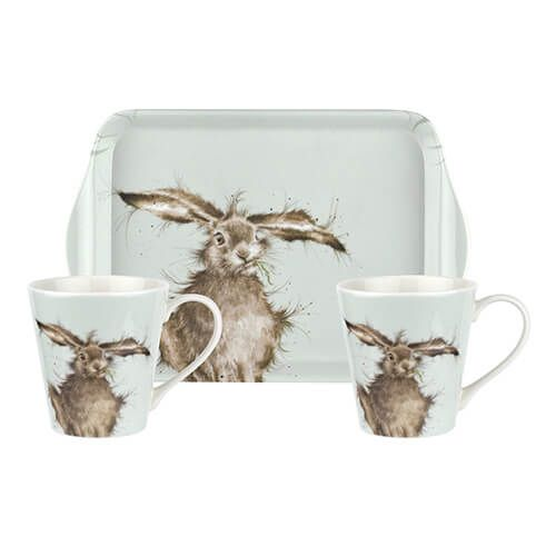 Wrendale Designs Mug & Tray Set Hare 6 for 5