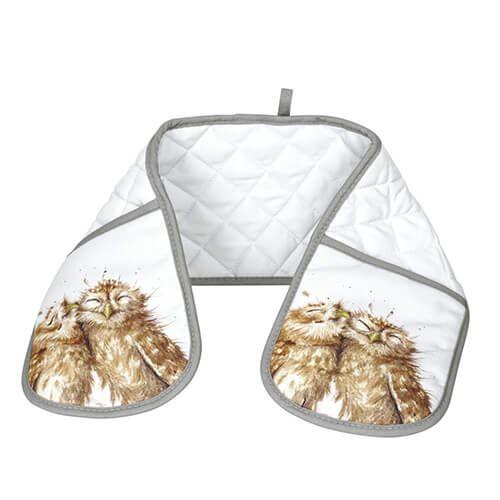 Wrendale Designs Double Oven Glove Owl Design