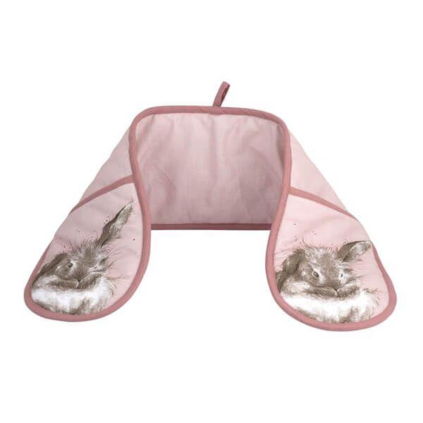 Wrendale Designs Double Oven Glove Pink Rabbit