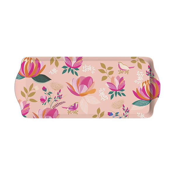 Sara Miller Peony Collection Sandwich Tray