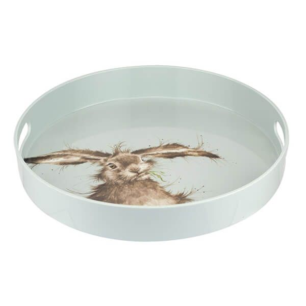 Wrendale Designs Round Tray Green Hare