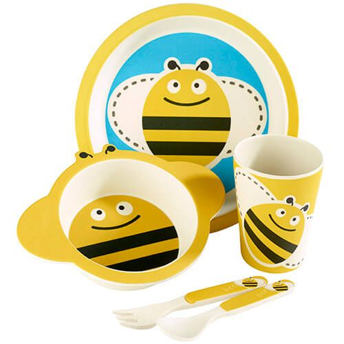Arthur Price Bambino Bumble Bee 5 Piece Bamboo Childs Dining Set