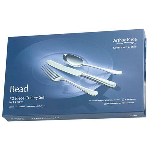 Arthur Price Classic Bead 32 Piece Cutlery Box Set