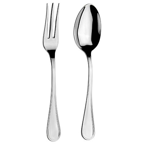 Arthur Price Classic Britannia Serving Spoon & Fork Set