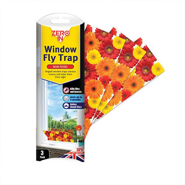Zero In Window Fly Traps Pack Of 3