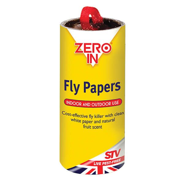 Zero In Fly Papers Pack Of 4