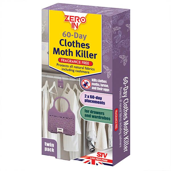Zero In 60-Day Clothes Moth Killer Pack Of 2