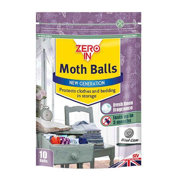 Zero In Moth Balls Pack Of 10 Balls