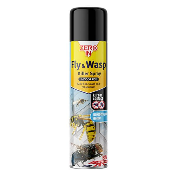 Zero In Fly & Wasp Killer Spray - 300ml Aerosol