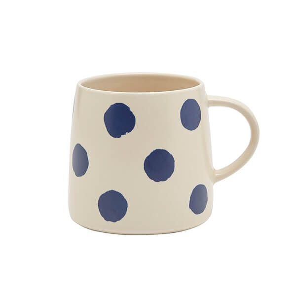 Joules Navy Spot Stoneware Hand Finished Mug With Gift Box