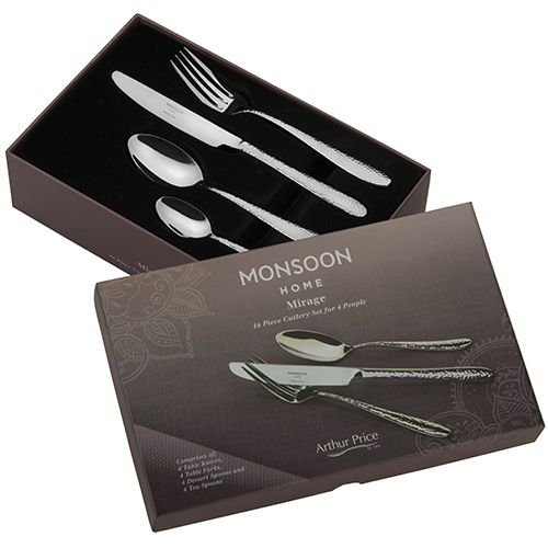 Arthur Price Monsoon Mirage 16 Piece Cutlery Gift Box Set