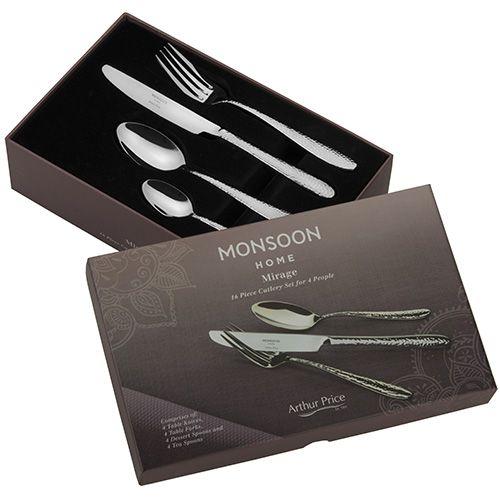 Arthur Price Monsoon Mirage 16 Piece Cutlery Gift Box Set
