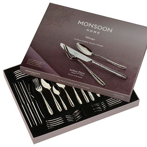 Arthur Price Monsoon Mirage 44 Piece Cutlery Gift Box Set