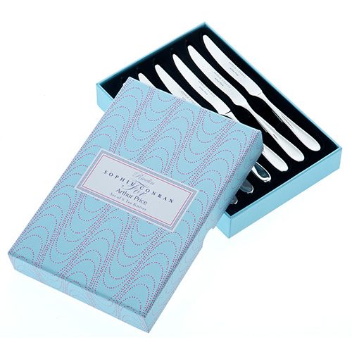 Arthur Price Sophie Conran Rivelin Set Of 6 Tea Knives Gift Box