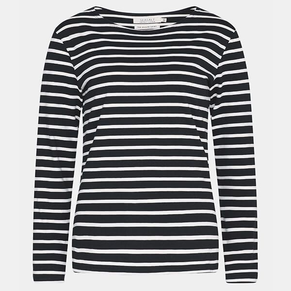 SeaSalt Sailor Shirt Breton Black Ecru