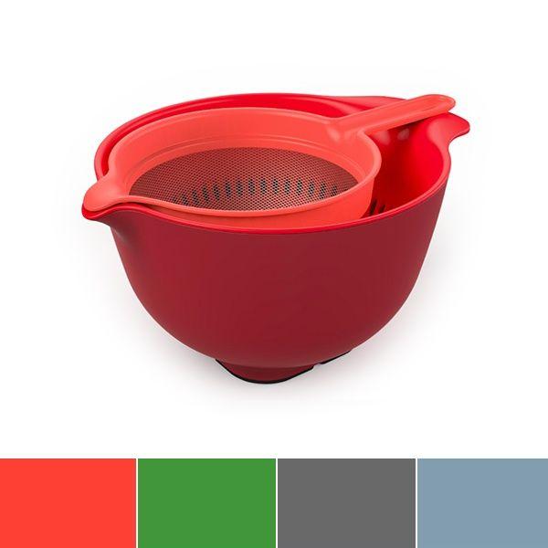 Venn Stacking Mixing Bowl, Colander & Sieve Set