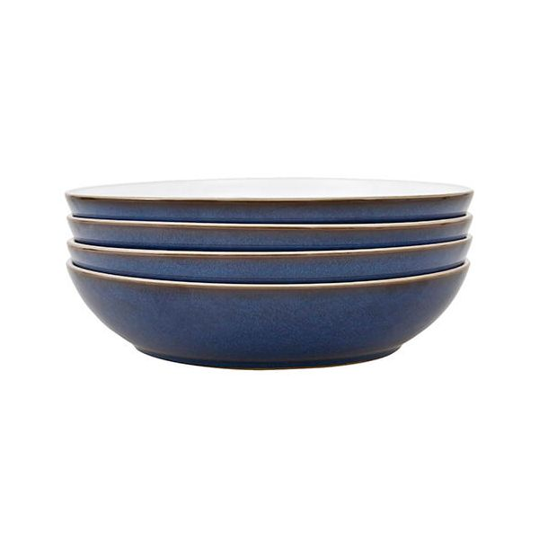 Denby Imperial Blue 4 Piece Pasta Bowl Set