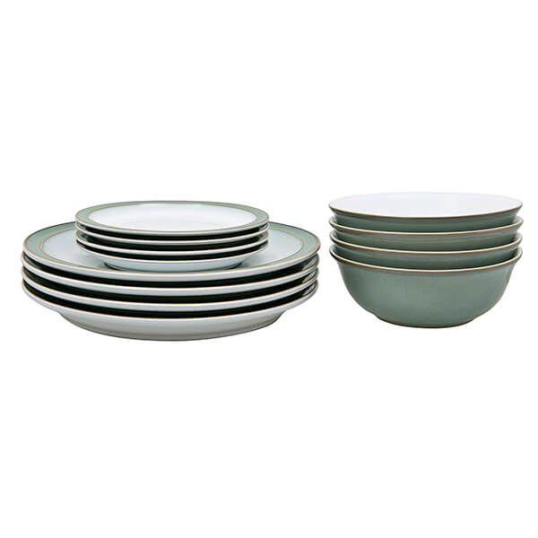 Denby Regency Green 12 Piece Tableware Set