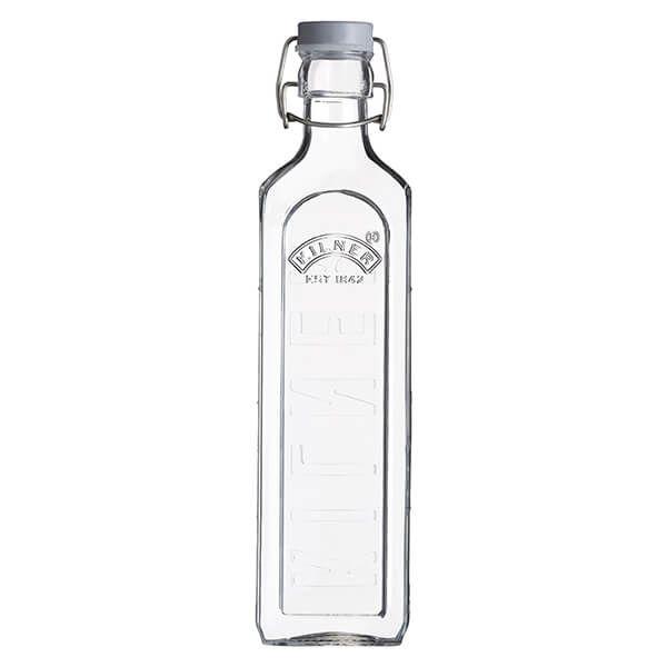 Kilner Square Clip Top Bottle 1L