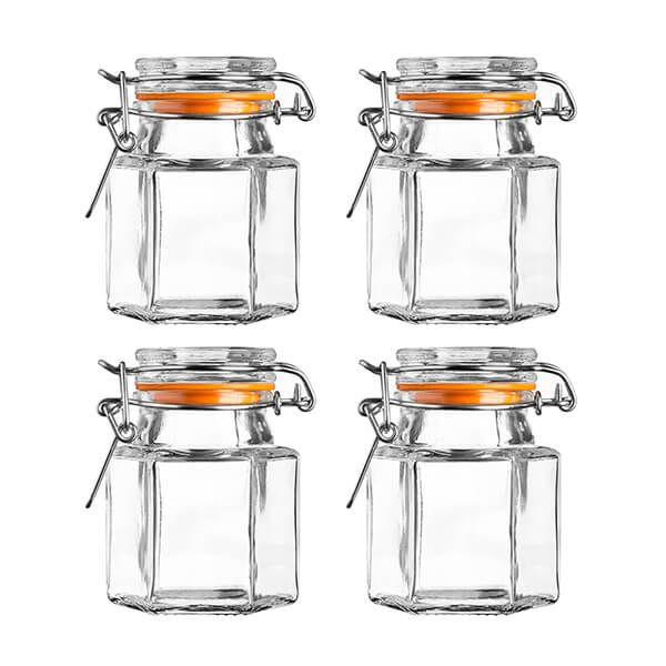 Kilner Set Of 4 Hexagonal Spice Jars 90ml