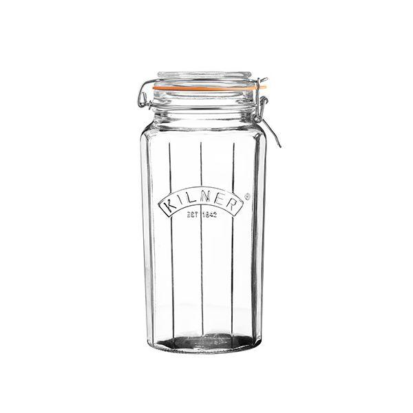 Kilner Facetted Clip Top Jar 1.8 Litre