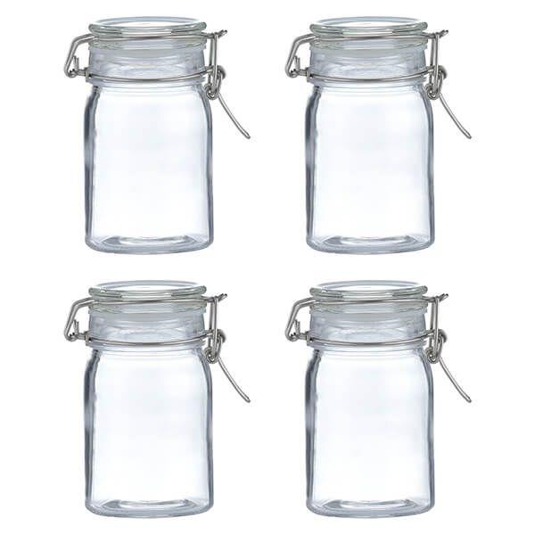 Kilner Clip Top Round Jar 270ml Set Of 4
