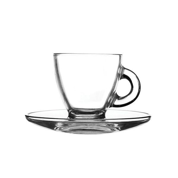 Ravenhead Entertain 80ml Set Of 2 Espresso Cup & Saucer